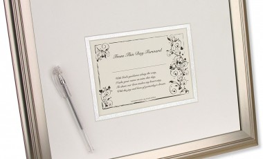 Bride's First Signature Framed Keepsake and Mat