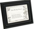 Bride's First Signature Framed Keepsake – Black