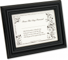 Bride's First Signature Framed Keepsake – Black
