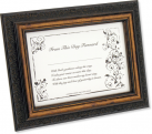 Bride's First Signature Framed Keepsake – Brown