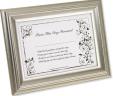 Bride's First Signature Framed Keepsake – Silver