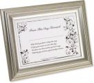 Bride's First Signature Framed Keepsake – Silver